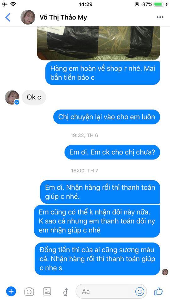 Võ Thị Thảo My - 0787804308 bom hàng