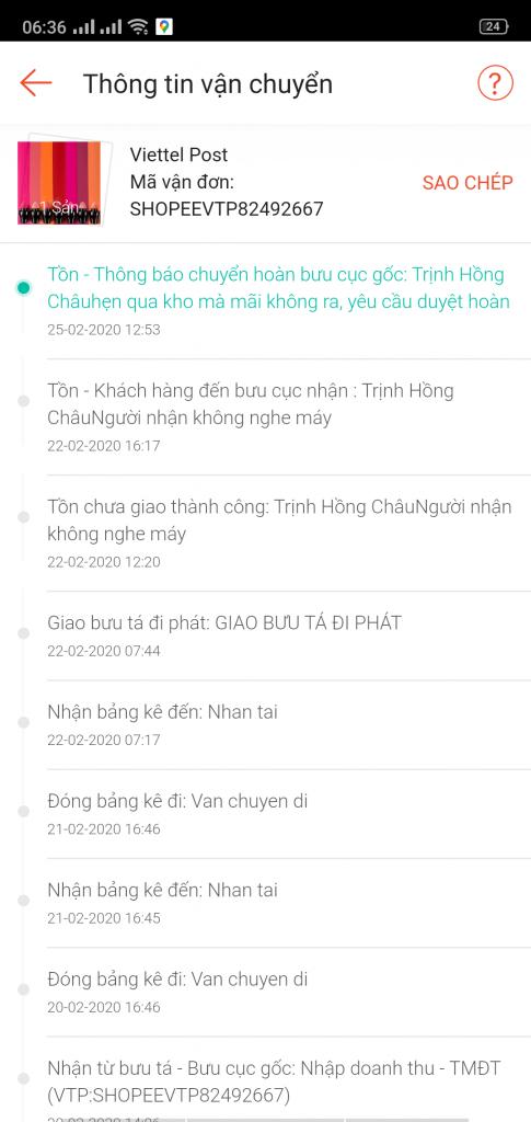 Trịnh Hồng Châu - 0349500056 bom hàng