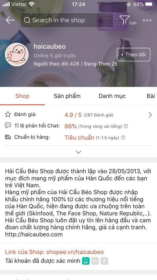shop mỹ phẩm online uy tín ở HCM