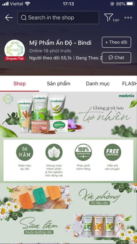 shop mỹ phẩm online uy tín