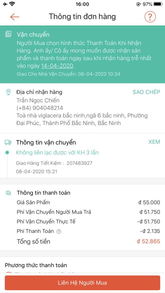 Trần Ngọc Chiến - 0904048214 bom hàng