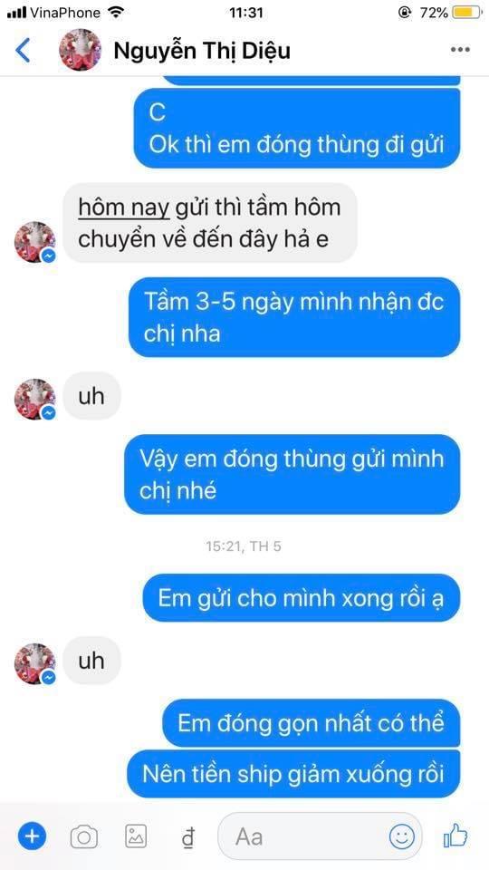 Nguyễn thị diệu - 0326684760 bom hàng