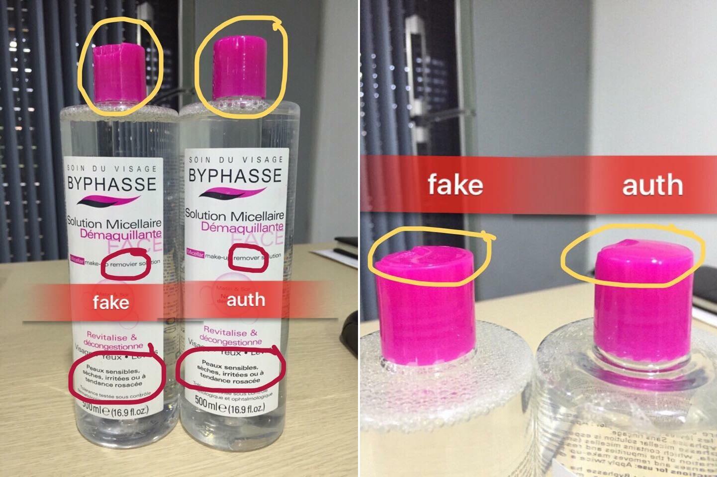 cách phân biệt mỹ phẩm fake