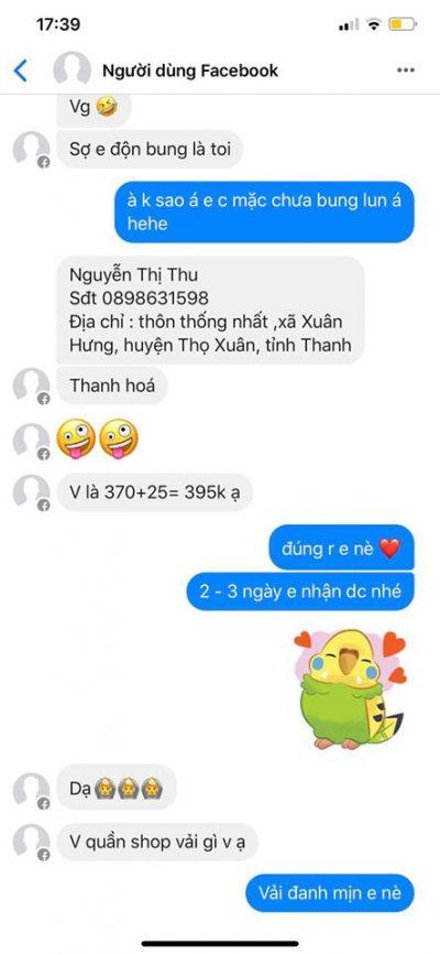 Nguyễn Thị Thu - 0898631598 Bom hàng