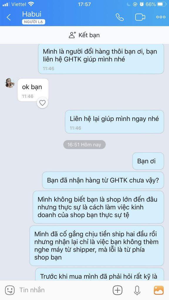 Shop Thời Trang HD trên Shopee làm ăn không uy tín - Lừa lọc khách hàng