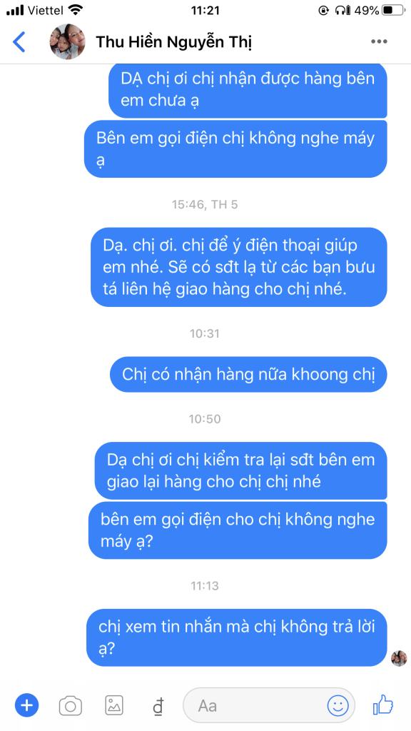 Nguyễn Thị Thu Huyền - 0932231301 bom hàng