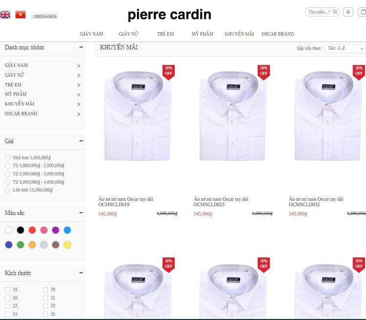 khuyến mãi Pierre Cardin