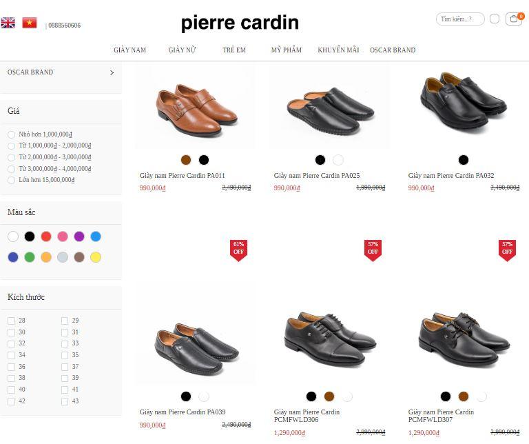 Mã giảm giá Pierre Cardin