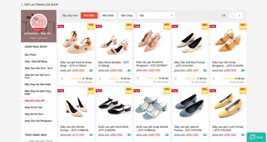 shop bán giày uy tín trên shopee