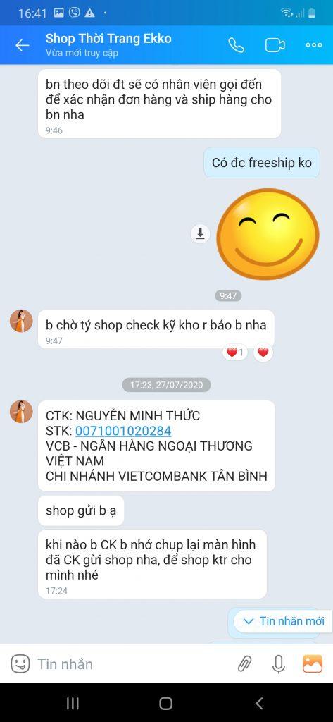 Shop thoitrangeko.com treo đầu dê bán thịt chuột