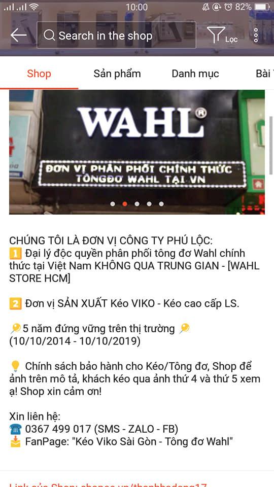 Shop Kéo viko và tông đơ wahl chi nhánh sài gòn tự hủy đơn làm mất quyền lợi khách hàng