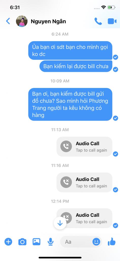 Shop Ngan Nguyen: Nhận tiền của khách rồi nhưng không gửi hàng