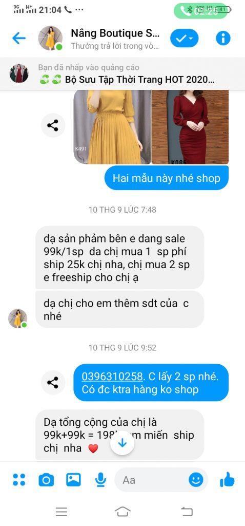 Bóc phốt shop Nắng boutique sành điệu & tinh tế bán quần áo lừa đảo