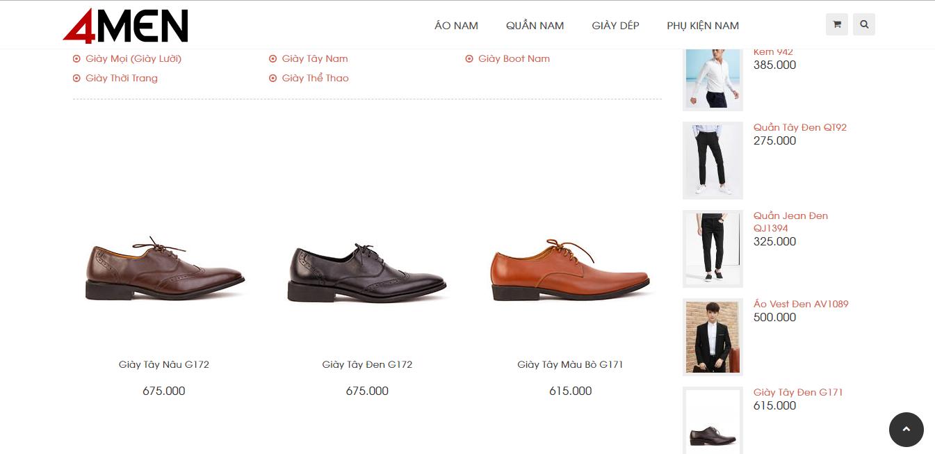 shop bán giày da nam đẹp ở tphcm
