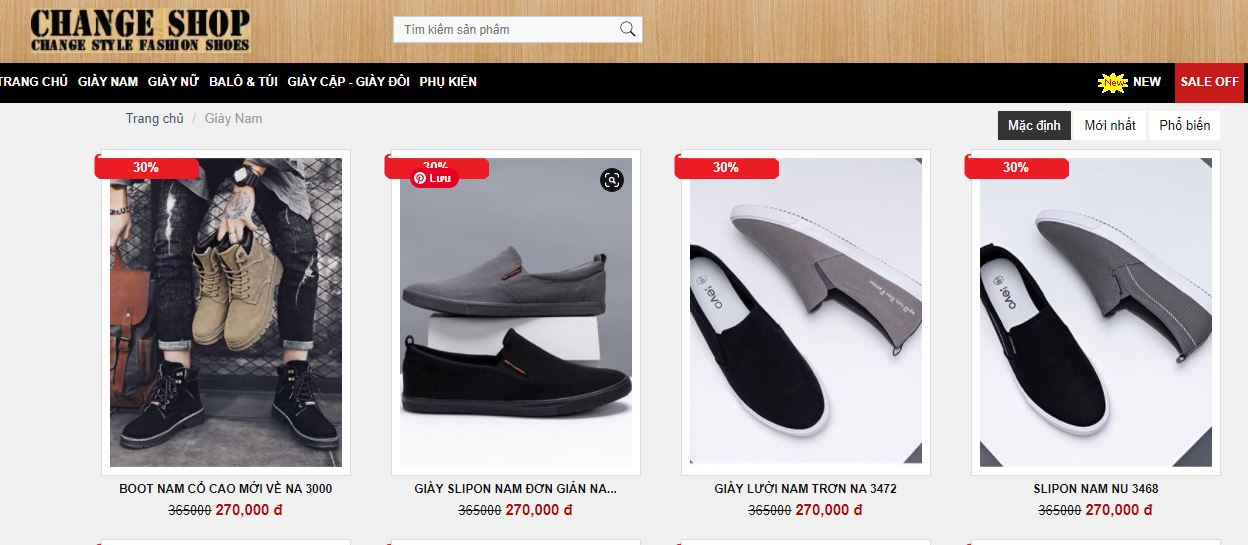 shop bán giày nam đẹp ở tphcm