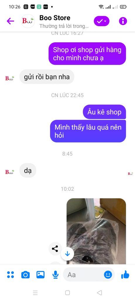 Boo store bán giày sai mẫu hoàn toàn, khách phản ánh không thèm trả lời